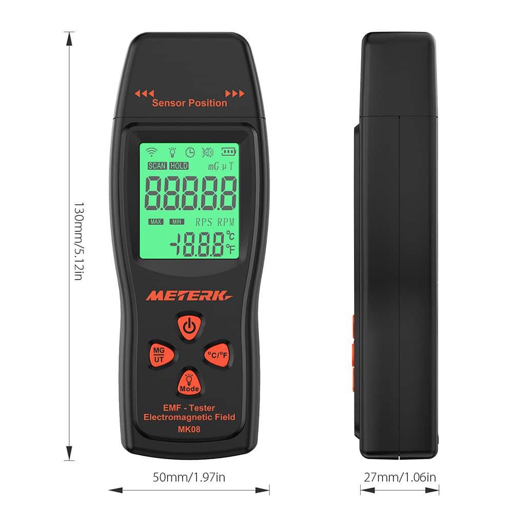 Meterk EMF Meter Specs
